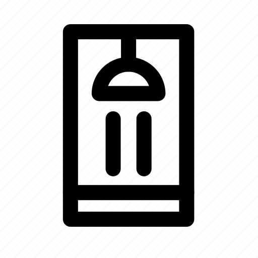 furniture, household, room, shower, water icon