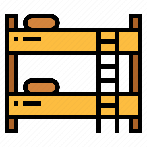 bed, bedroom, bunk bed, furniture icon