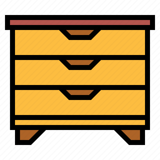 drawer unit, furniture icon