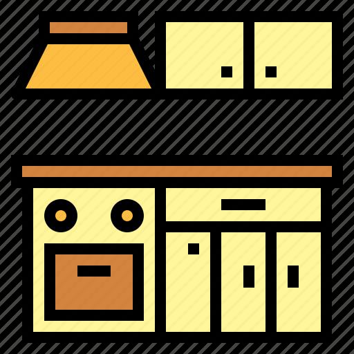 furniture, kitchen, kitchen set icon
