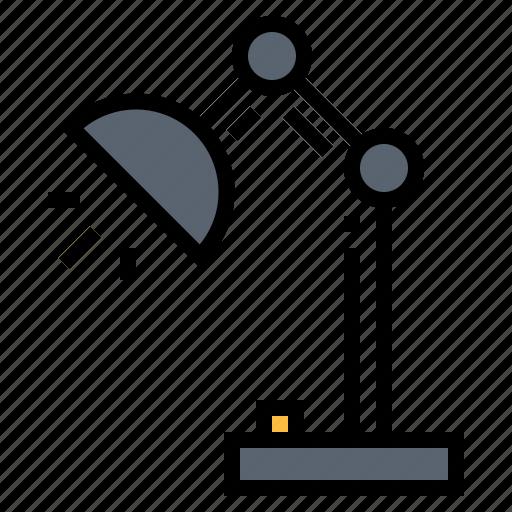 desk lamp, furniture, light icon
