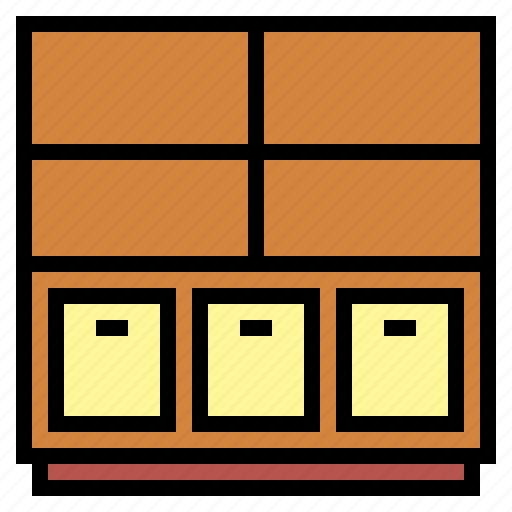 furniture, shelves, shelving icon