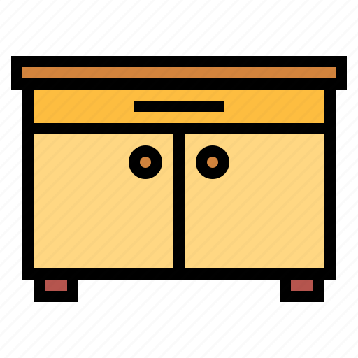 cabinet, furniture, sideboard icon