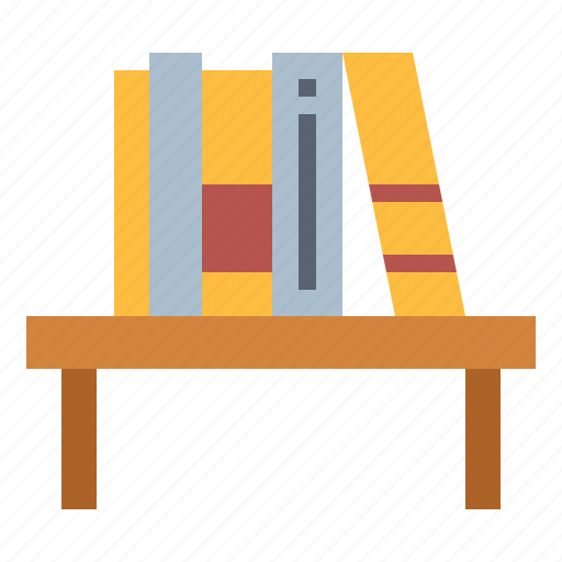 books, bookshelf, furniture, library icon