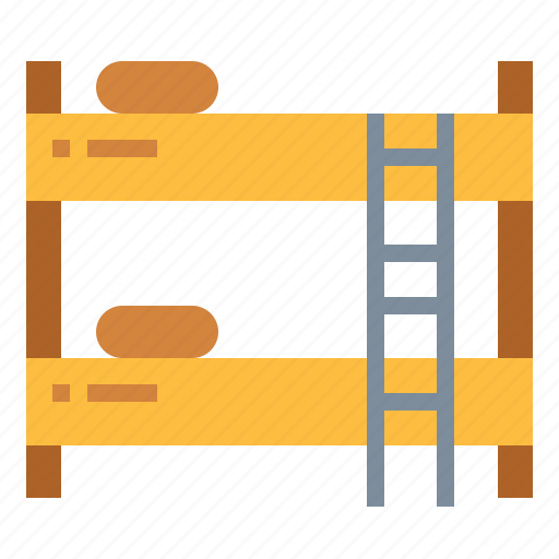bedroom, beds, bunk bed, furniture icon
