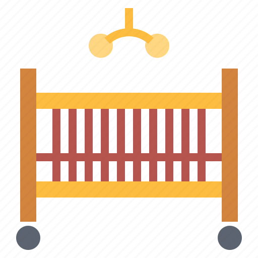 baby bed, crib, furniture icon