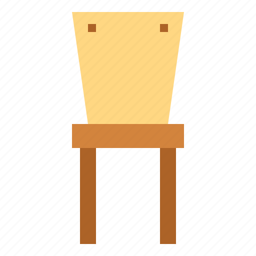 dining chair, furniture, seat icon