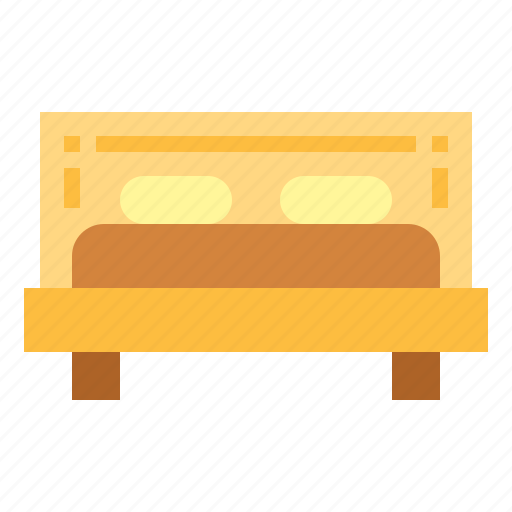 bedroom, beds, double bed, furniture icon