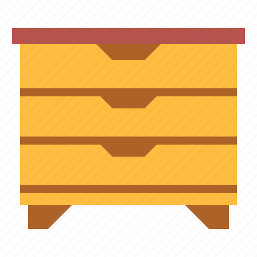 chest, drawer unit, furniture icon
