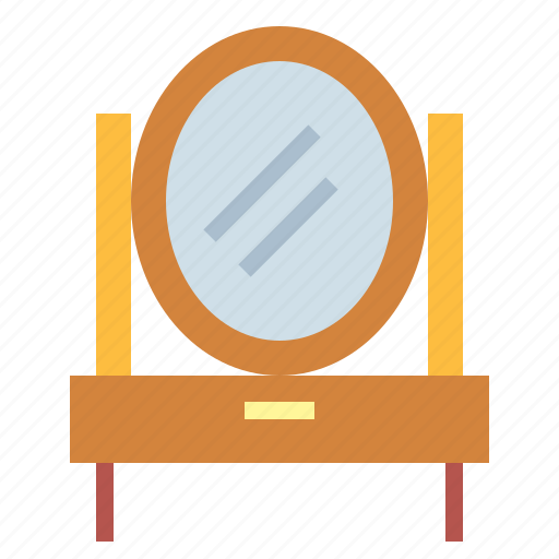 dressing, dressing table, furniture, mirror icon