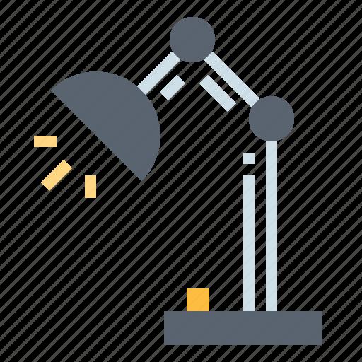 desk lamp, furniture, lamp, light icon