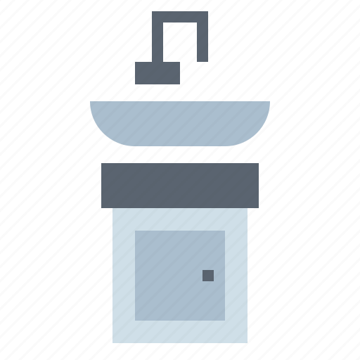 bathroom, furniture, washstand icon