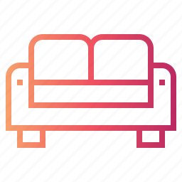couch, furniture, seat, sofa icon