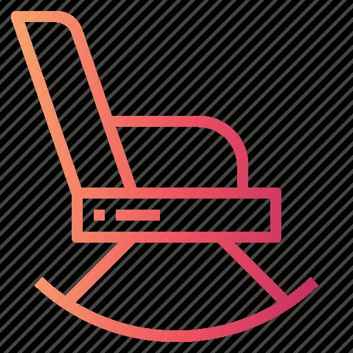 chair, furniture, rocking icon