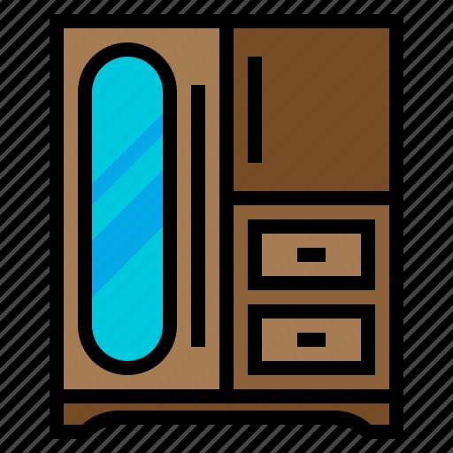 clothing, storage, wardrobe icon
