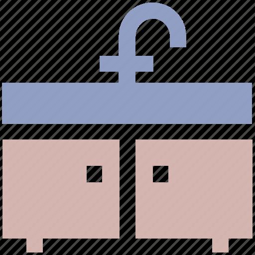 appliance, bath, bathroom, bathroom interior, cabinet, furnished, interior, sink, washbasin icon