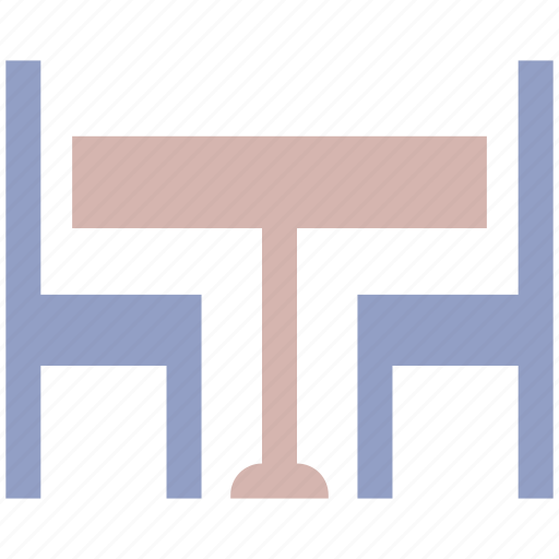 cafe, chairs, dining table, furniture, hotel, household, restaurant table, table icon