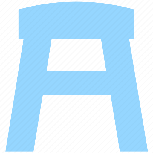 bar, counter stool, decor, furnishing, furniture, house, kitchen, stool, wooden stool icon