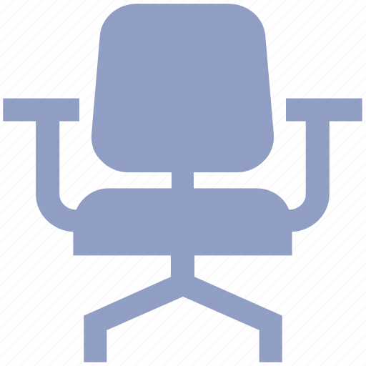 armchair, chair, computer chair, desk, furniture, kitchen, office chair, seat, sit, stool, study chair icon