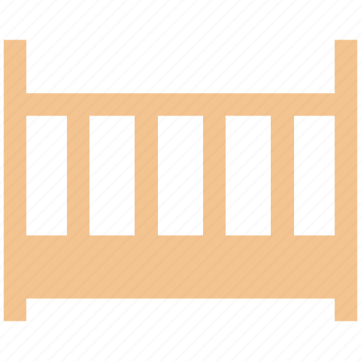 baby, baby bed, baby bedroom, cot, cradle, crib, furniture icon