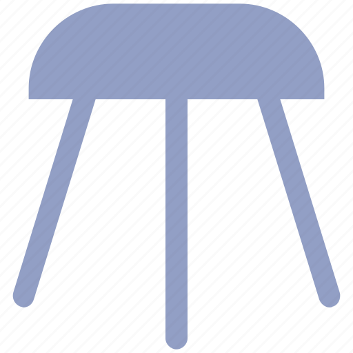 bar, counter stool, decor, furnishing, furniture, house, kitchen, stool, wooden stool icon