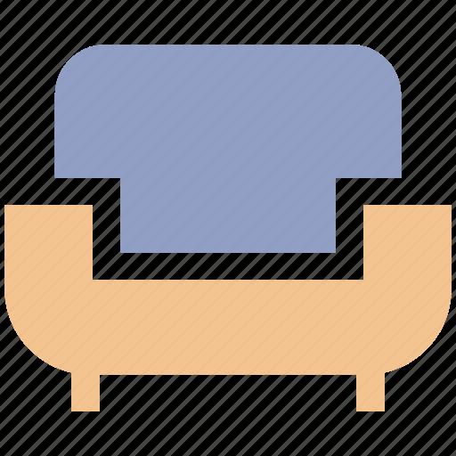 couch, divan, furniture, interior, living room, lounge, sofa icon