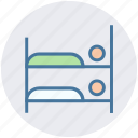 bed, building, double, furniture, holiday, summer icon