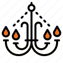 chandelier, decoration, home, illumination, light icon