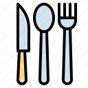 eating, fork, knife, restaurant, tools icon