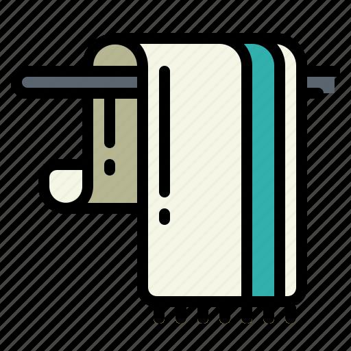 bathing, bathroom, drying, towel, wellness icon