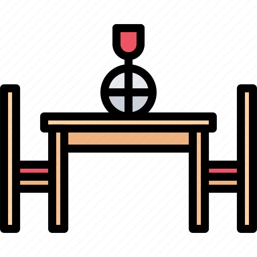 chair, decoration, dinner, furniture, home, interior, table icon