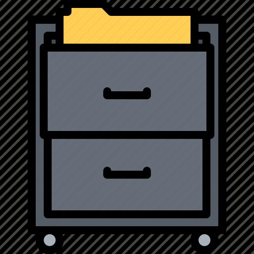 cabinets, decoration, filing, furniture, home, interior icon