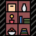 decoration, furniture, home, interior, rack, shelf icon