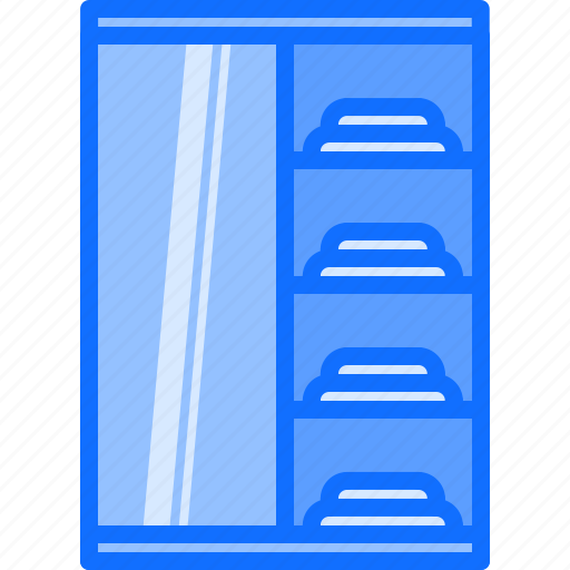 cupboard, decoration, furniture, home, interior, mirror, wardrobe icon