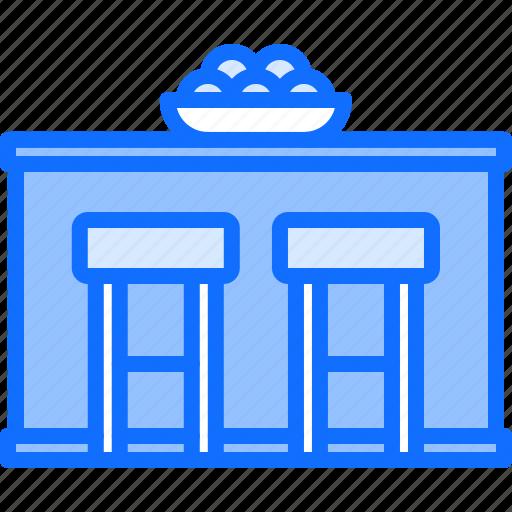 bar, chair, counter, decoration, furniture, home, interior icon