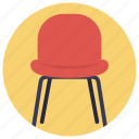 chair, desk chair, furniture, mesh chair, seat icon