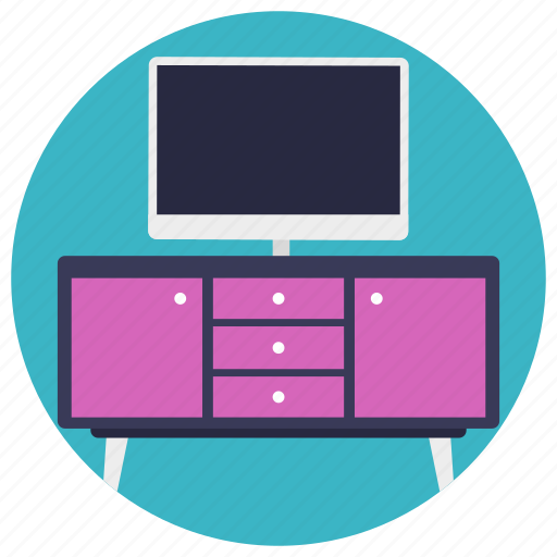 computer desk, computer table, furniture, home office, workplace icon