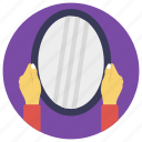 bathroom mirror, mirror, salon mirror, vanity mirror, wall mirror icon