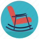 chair, furniture, nursing chair, rocker chair, rocking chair icon