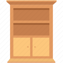 book shelf, book storage, books almirah, books rack, furniture icon