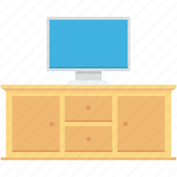 furniture, home interior, monitor, tv bureau, tv trolley icon