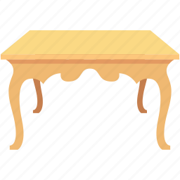 furniture, interior table, room table, table, vintage table icon