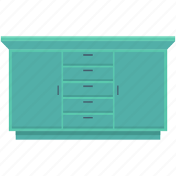 cabinet, closet, cupboard, drawers, storage drawers icon