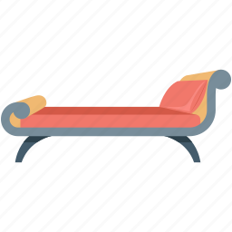 colonial sofa, couch, furniture, settee, sofa icon