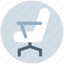 armchair, chair, desk, furniture, office, office chair, office supplies icon