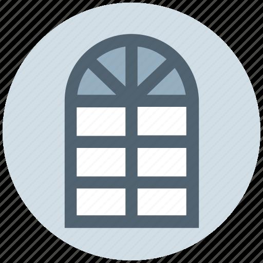 apartment window, furniture, home window, office window, window frame icon