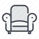armchair, chair, furniture, households, interior, seat, sofa icon