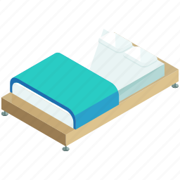 bed, bedroom, decor, furnishings, furniture, interior, sleep icon