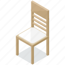 chair, dining, diningroom, furnishings, furniture, interior icon