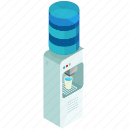 cooler, drink, furniture, office, water icon